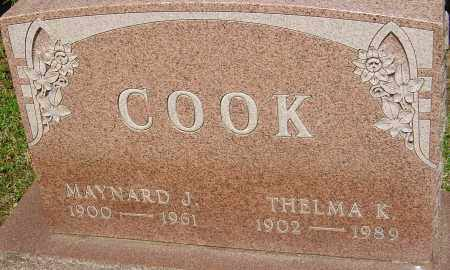 COOK, THELMA K - Franklin County, Ohio | THELMA K COOK - Ohio Gravestone Photos