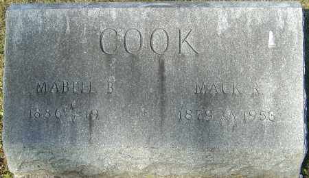 COOK, MAYBELL B - Franklin County, Ohio | MAYBELL B COOK - Ohio Gravestone Photos