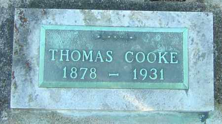 COOKE, THOMAS - Franklin County, Ohio | THOMAS COOKE - Ohio Gravestone Photos