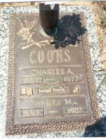 COONS, CHARLES A. - Franklin County, Ohio | CHARLES A. COONS - Ohio Gravestone Photos