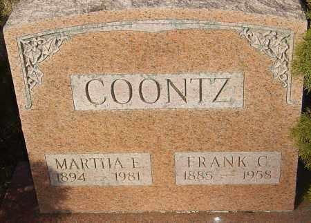 COONTZ, MARTHA E - Franklin County, Ohio   MARTHA E COONTZ - Ohio Gravestone Photos