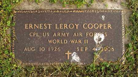 COOPER, ERNEST LEROY - Franklin County, Ohio   ERNEST LEROY COOPER - Ohio Gravestone Photos