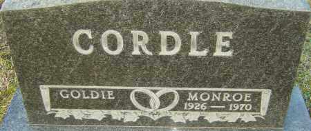 CORDLE, MONROE - Franklin County, Ohio | MONROE CORDLE - Ohio Gravestone Photos