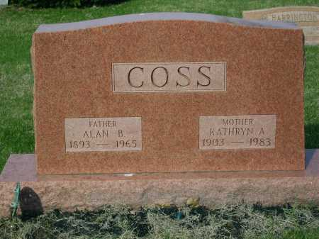 COSS, KATHRYN A. - Franklin County, Ohio | KATHRYN A. COSS - Ohio Gravestone Photos