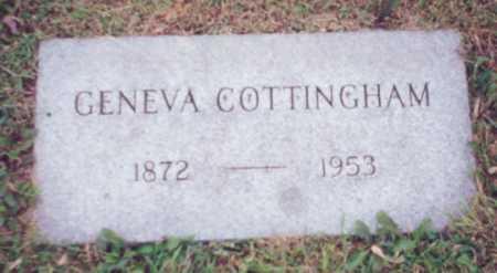 ISBELL COTTINGHAM, GENEVA - Franklin County, Ohio   GENEVA ISBELL COTTINGHAM - Ohio Gravestone Photos