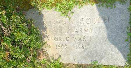 COUCH, ANDREW L - Franklin County, Ohio   ANDREW L COUCH - Ohio Gravestone Photos
