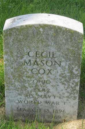 COX, CECIL MASON - Franklin County, Ohio   CECIL MASON COX - Ohio Gravestone Photos