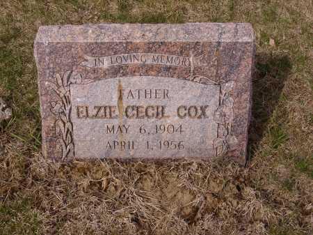 COX, ELZIE CECIL - Franklin County, Ohio | ELZIE CECIL COX - Ohio Gravestone Photos
