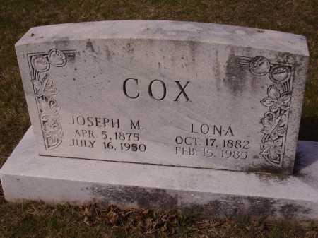 COX, JOSEPH M. - Franklin County, Ohio | JOSEPH M. COX - Ohio Gravestone Photos
