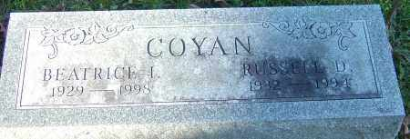 COYAN, BEATRICE ILA - Franklin County, Ohio | BEATRICE ILA COYAN - Ohio Gravestone Photos