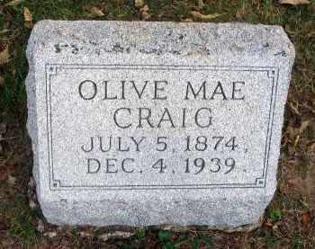 CRAIG, OLIVE MAE - Franklin County, Ohio   OLIVE MAE CRAIG - Ohio Gravestone Photos