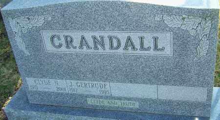 CRANDALL, J GERTRUDE - Franklin County, Ohio | J GERTRUDE CRANDALL - Ohio Gravestone Photos