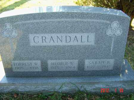 WALKER CRANDALL, SARAH - Franklin County, Ohio | SARAH WALKER CRANDALL - Ohio Gravestone Photos