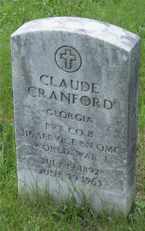 CRANFORD, CLAUDE - Franklin County, Ohio | CLAUDE CRANFORD - Ohio Gravestone Photos