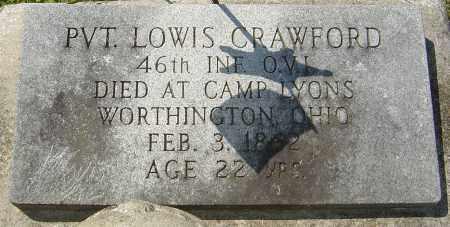 CRAWFORD, LOWIS - Franklin County, Ohio   LOWIS CRAWFORD - Ohio Gravestone Photos