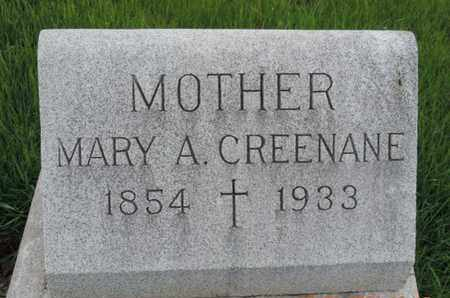 CREENANE, MARY A - Franklin County, Ohio | MARY A CREENANE - Ohio Gravestone Photos