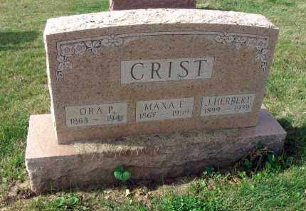 CRIST, MAXA E. - Franklin County, Ohio | MAXA E. CRIST - Ohio Gravestone Photos