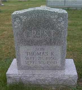 CRIST, THOMAS K. - Franklin County, Ohio   THOMAS K. CRIST - Ohio Gravestone Photos