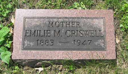 CRISWELL, EMILIE M. - Franklin County, Ohio | EMILIE M. CRISWELL - Ohio Gravestone Photos