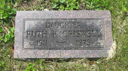 CRISWELL, RUTH K. - Franklin County, Ohio | RUTH K. CRISWELL - Ohio Gravestone Photos