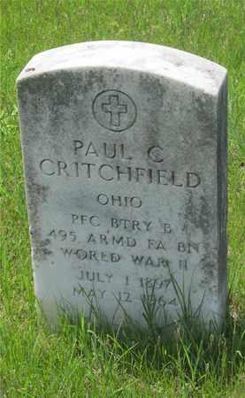 CRITCHFIELD, PAUL C. - Franklin County, Ohio   PAUL C. CRITCHFIELD - Ohio Gravestone Photos