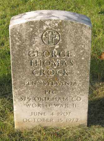 CROCK, GEORGE THOMAS - Franklin County, Ohio | GEORGE THOMAS CROCK - Ohio Gravestone Photos