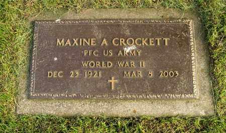 CROCKETT, MAXINE A. - Franklin County, Ohio | MAXINE A. CROCKETT - Ohio Gravestone Photos