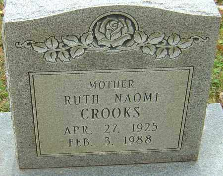 CROOKS, RUTH NAOMI - Franklin County, Ohio | RUTH NAOMI CROOKS - Ohio Gravestone Photos