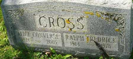 CROSS, RALPH FREDRICK - Franklin County, Ohio | RALPH FREDRICK CROSS - Ohio Gravestone Photos