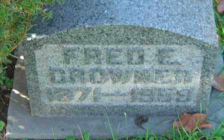 CROWNER, FRED E - Franklin County, Ohio | FRED E CROWNER - Ohio Gravestone Photos