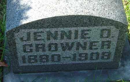 CROWNER, JENNIE D - Franklin County, Ohio   JENNIE D CROWNER - Ohio Gravestone Photos