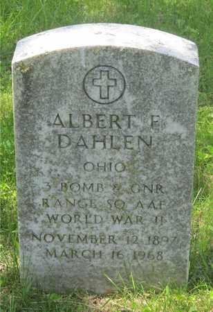 DAHLEN, ALBERT F. - Franklin County, Ohio | ALBERT F. DAHLEN - Ohio Gravestone Photos