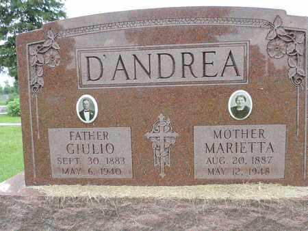 D'ANDREA, GIULIO - Franklin County, Ohio | GIULIO D'ANDREA - Ohio Gravestone Photos