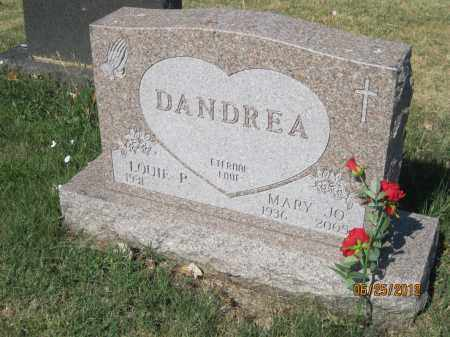 CORDLE DANDREA, MARY JO - Franklin County, Ohio | MARY JO CORDLE DANDREA - Ohio Gravestone Photos