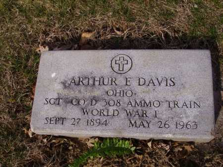 DAVIS, ARTHUR E.- MILITARY - Franklin County, Ohio | ARTHUR E.- MILITARY DAVIS - Ohio Gravestone Photos