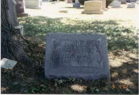 DAVIS, ELLEN - Franklin County, Ohio | ELLEN DAVIS - Ohio Gravestone Photos