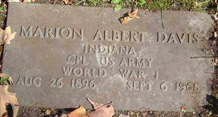DAVIS, MARION ALBERT - Franklin County, Ohio | MARION ALBERT DAVIS - Ohio Gravestone Photos