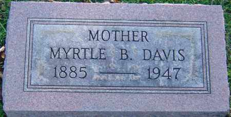DAVIS, MYRTLE B - Franklin County, Ohio   MYRTLE B DAVIS - Ohio Gravestone Photos