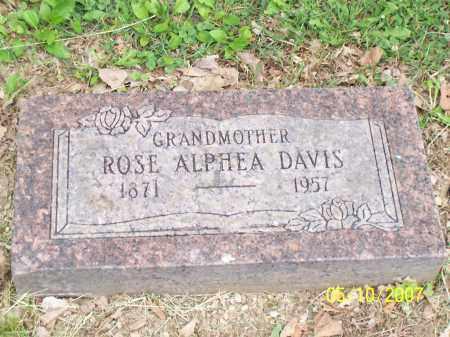 DAVIS, ROSE ALPHEA - Franklin County, Ohio | ROSE ALPHEA DAVIS - Ohio Gravestone Photos