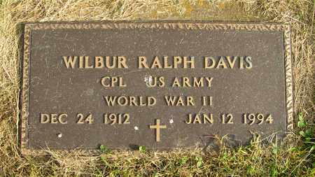 DAVIS, WILBUR RALPH - Franklin County, Ohio | WILBUR RALPH DAVIS - Ohio Gravestone Photos