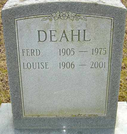 DEAHL, LOUISE - Franklin County, Ohio | LOUISE DEAHL - Ohio Gravestone Photos