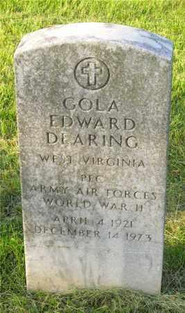 DEARING, GOLA EDWARD - Franklin County, Ohio   GOLA EDWARD DEARING - Ohio Gravestone Photos