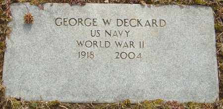 DECKARD, GEORGE W - Franklin County, Ohio | GEORGE W DECKARD - Ohio Gravestone Photos
