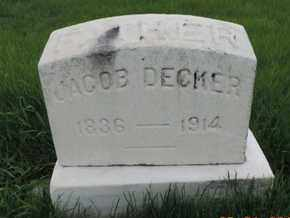 DECKER, JACOB - Franklin County, Ohio | JACOB DECKER - Ohio Gravestone Photos