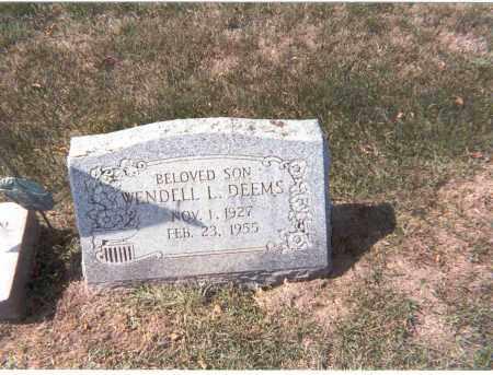 DEEMS, WENDELL L. - Franklin County, Ohio | WENDELL L. DEEMS - Ohio Gravestone Photos