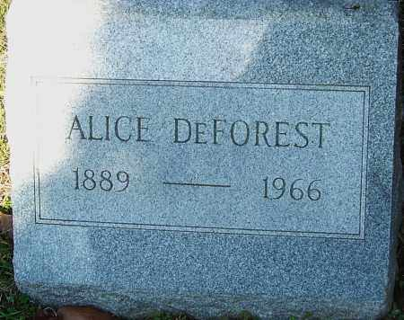 DEFOREST, ALICE - Franklin County, Ohio   ALICE DEFOREST - Ohio Gravestone Photos