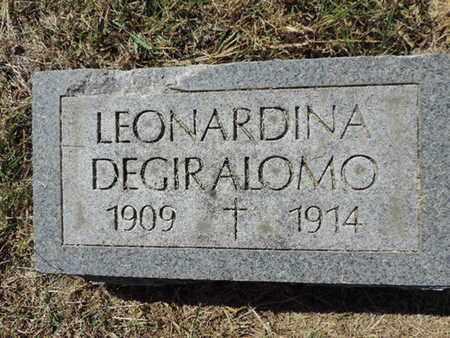 DEGIRALOMO, LEONARDINA - Franklin County, Ohio   LEONARDINA DEGIRALOMO - Ohio Gravestone Photos