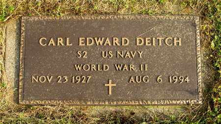 DEITCH, CARL EDWARD - Franklin County, Ohio | CARL EDWARD DEITCH - Ohio Gravestone Photos