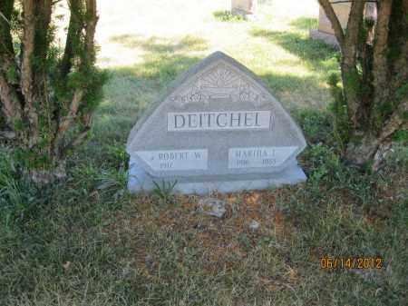 DEITCHEL, MARTHA L - Franklin County, Ohio | MARTHA L DEITCHEL - Ohio Gravestone Photos