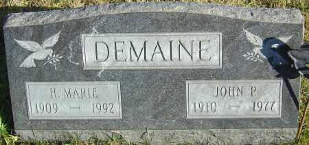 DEMAINE, JOHN P - Franklin County, Ohio   JOHN P DEMAINE - Ohio Gravestone Photos